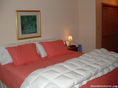 Master bedroom - Riverfront Condo at Loon Mt., Lincoln NH