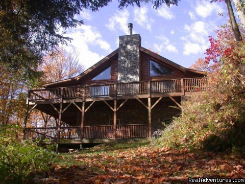Smoky Mountain Log Cabin Vacation Rentals Creekside in the Fall