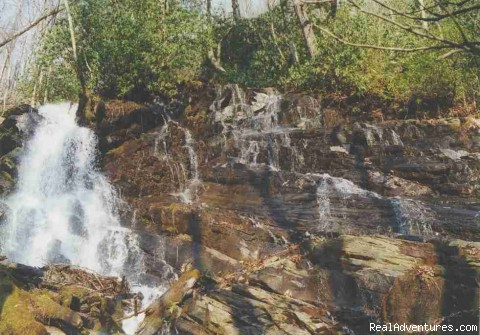 Creekside WaterFall - Smoky Mountain Log Cabin Vacation Rentals