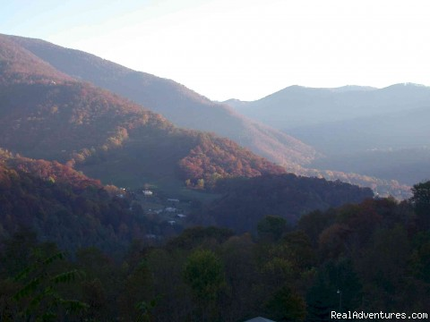 Creekside's Smoky Mountains during Fall - Smoky Mountain Log Cabin Vacation Rentals