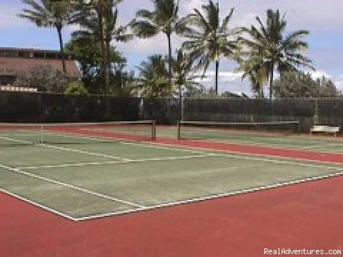 Cliffs Tennis Courts and Playground for Kids - Cliff's Honeymoon Condo Princeville, Kauai, Hawaii