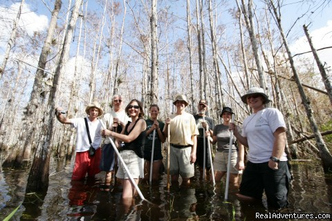 wet walk in a dwarf cypress dome - See the Everglades with a Guide