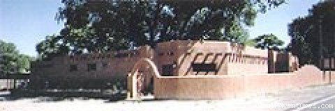 Romantic and historic adobe Hacienda and wedding chapel dating back 150 - 200 years,  located in rural village of Algodones.  Conveniently located between Albuquerque and Santa Fe off I-25. Former stage coach stop and train stop.