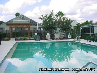 Community Pool and Gazebo - Lakeside Vacation Home Near Disney