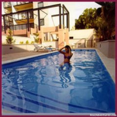 Pool area - Perth Serviced apartments, western-Aus