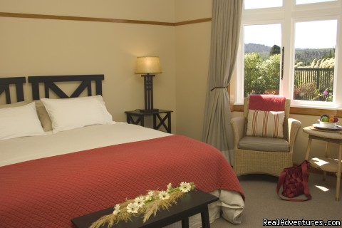 One of our bedrooms - Lake Brunner Lodge