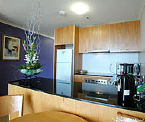 Fully equipped kitchen - Canberra waldorf Apartment Hotel