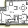 1 bedroom  office apartment