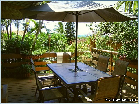 Bed and Breakfast oceanview breakfast lanai - Ocean Breeze Hideaway--Maui B&B & Oceanfront Condo