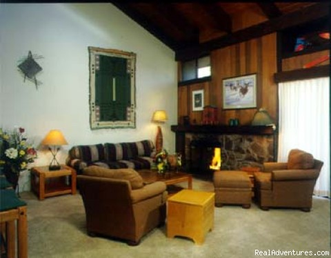 Pinegrove Townhome living room - Lake Tahoes Premier condo resort w/hotel amenities
