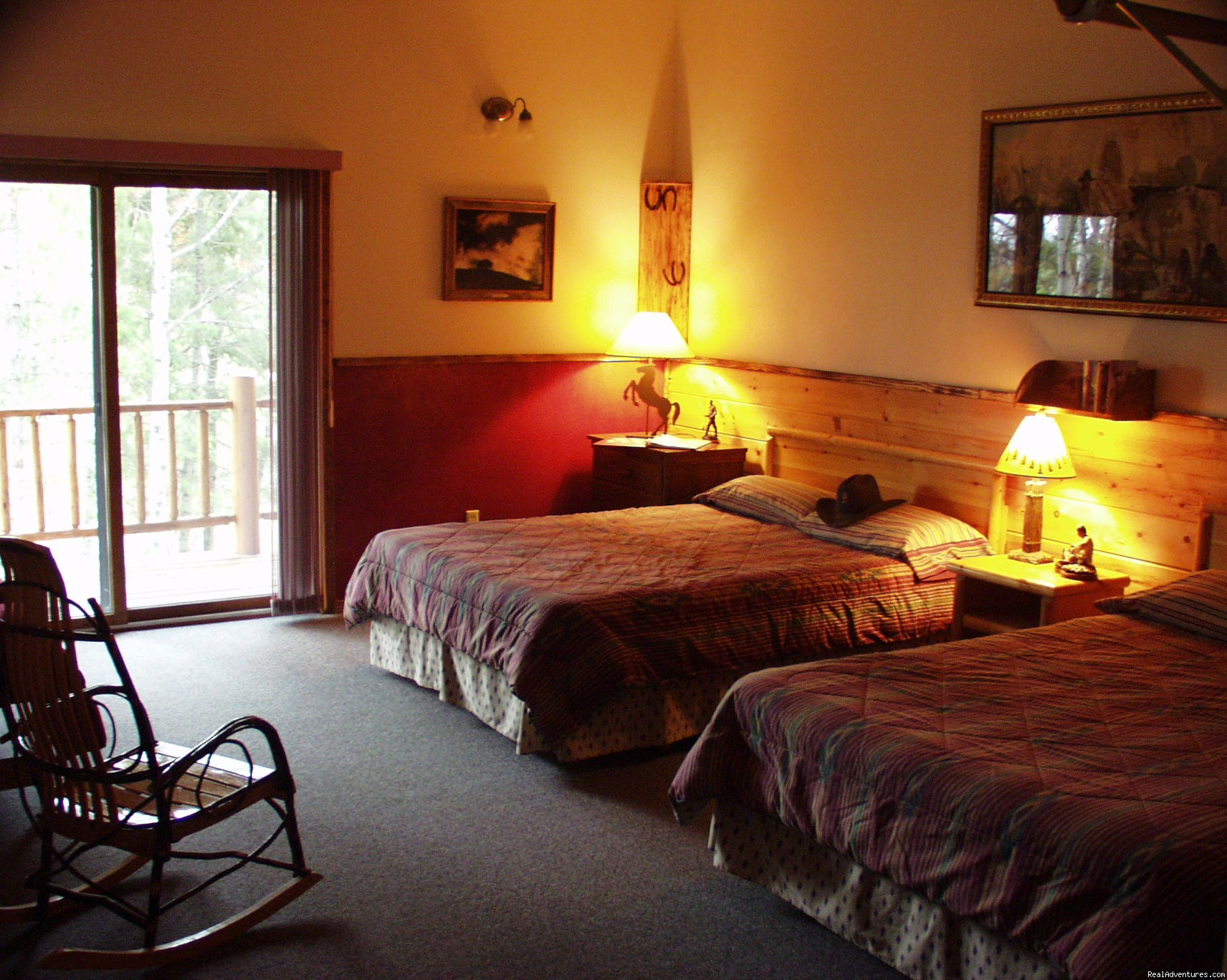 Clean, comfortable rooms w/ western decor