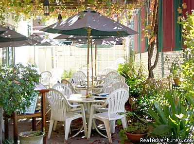 Or enjoy warm weather courtyard dining