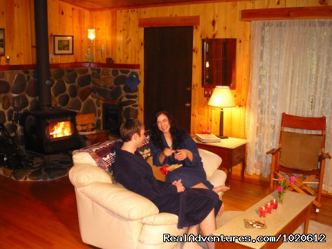 Big Creek Living Room - Jasmer's Mt. Rainier Cabins & Fireplace Rooms