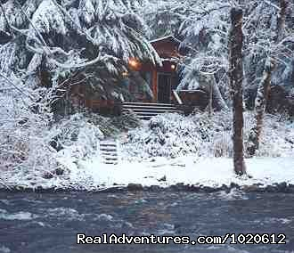 Big Creek Cabin in Winter - Jasmer's Mt. Rainier Cabins & Fireplace Rooms