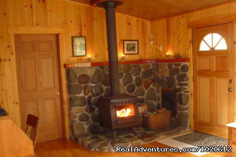Big Creek Interior - Jasmer's Mt. Rainier Cabins & Fireplace Rooms
