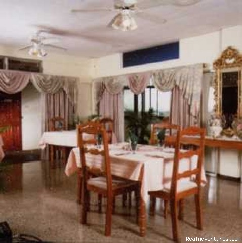 Enjoy tropical cuisine in our restaurant - Relax in Trinidad and Tobago at Hosanna Hotel