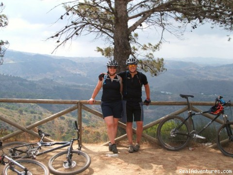 Overlooking the coast - Sierra Cycling Mountain Bike Holidays Spain