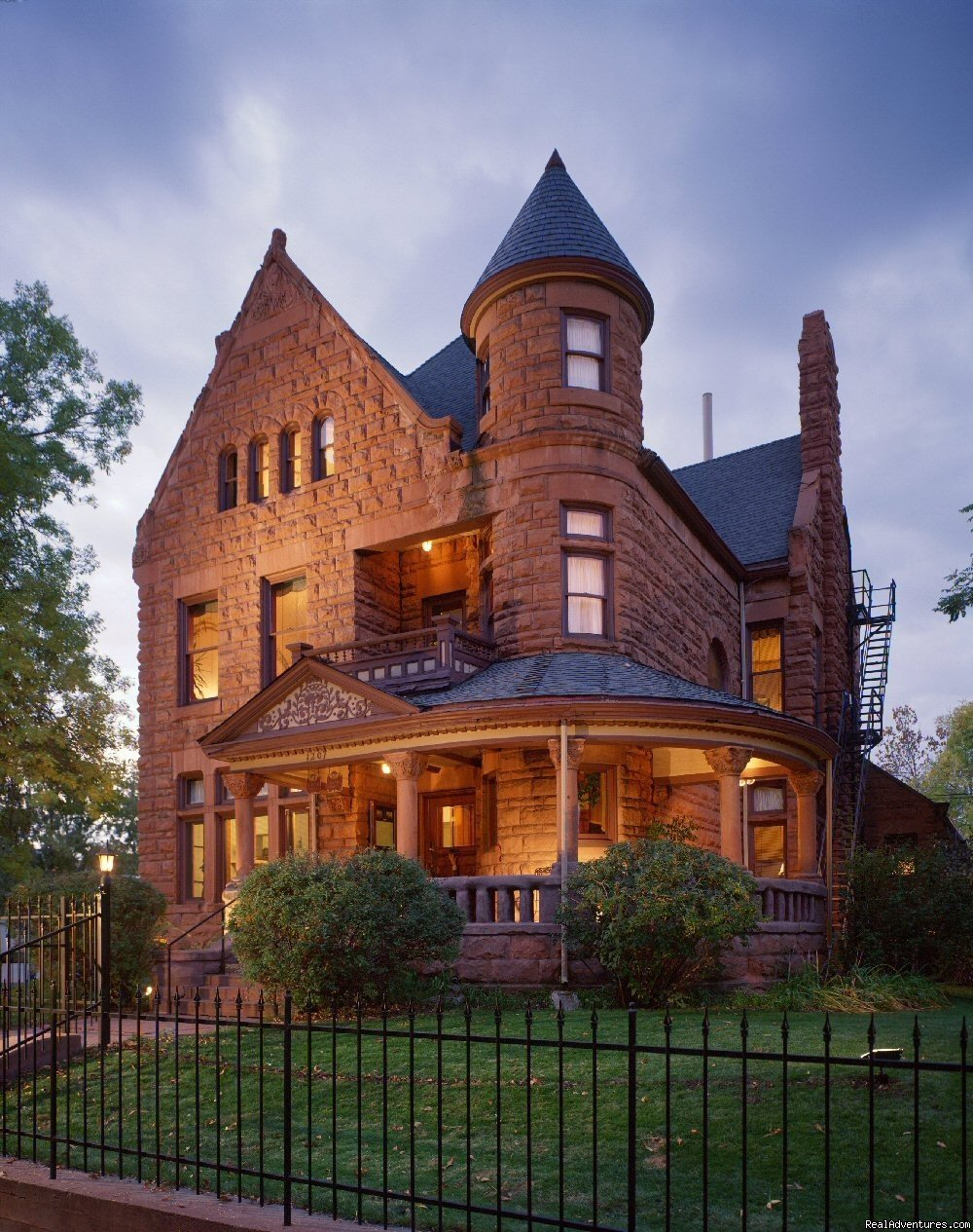 1891 Ruby Sandstone Mansion, Located in Downtown Denver. Eight Rooms with Private Bathroom. $114 -199 per night, plus tax.