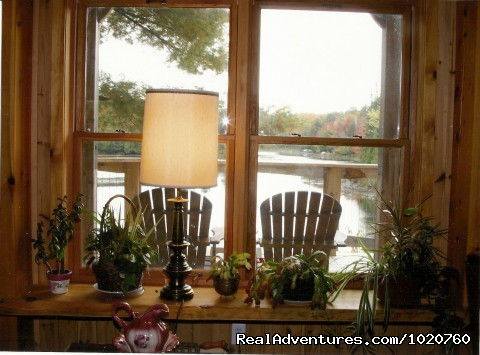 Sunny Rock Bed and Breakkfast, View from the Sunroom - Sunny Rock Bed & Breakfast Haliburton Highlands ON