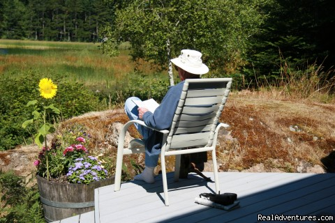 Bird watching deck - Otters Pond Bed and Breakfast on Orcas Island