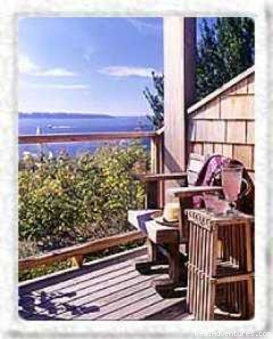 Camano Island Inn deck view