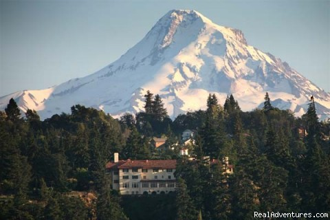 At the foot of Mt. Hood - Columbia Gorge Hotel