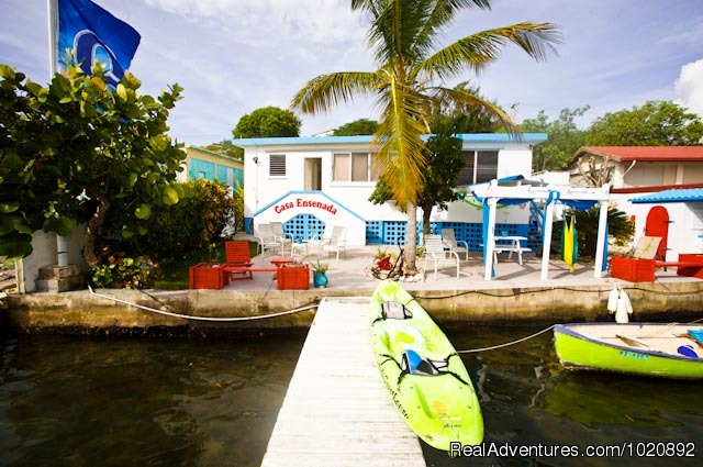 View from the water - Casa Ensenada Waterfront  Guesthouse, Culebra, PR