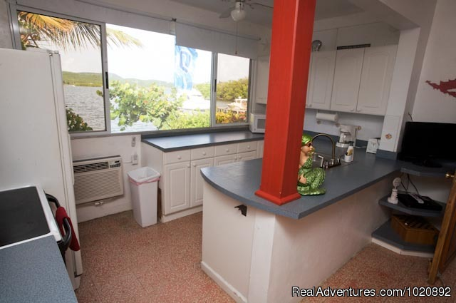 Grande Kitchen - Casa Ensenada Waterfront  Guesthouse, Culebra, PR