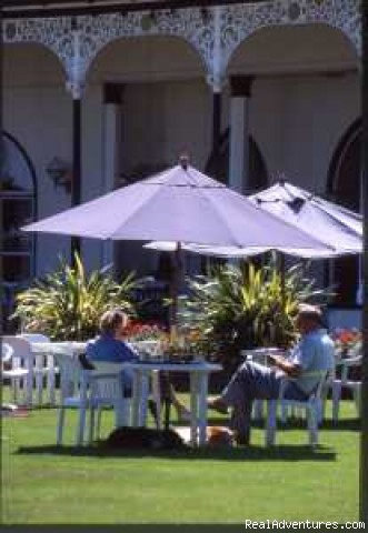 Relaxing On the Hotel Lawn - Langstone Cliff Hotel, Dawlish Warren, Dawlish