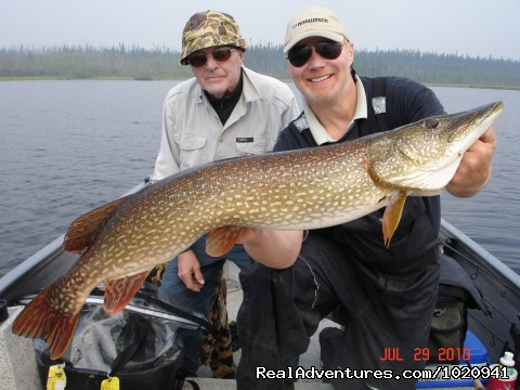 Wollaston Lake - June 2010 Trophy pike - Minor Bay Lodge & Outposts, Wollaston Lake, Saskat