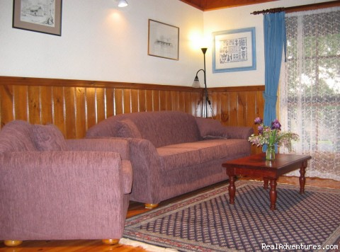 The comfortable apartment lounge - Romantic Buttercup Cottage & Private Apartment