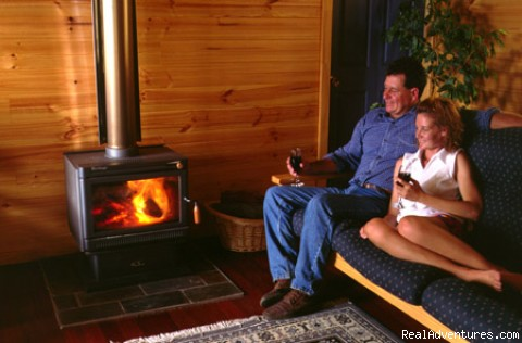 Cosey beside the wood fire - Hunter River Retreat