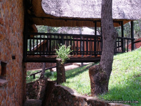 Lodge no. 2 (entrance) - Self-catering lodges in woodlands near Harare