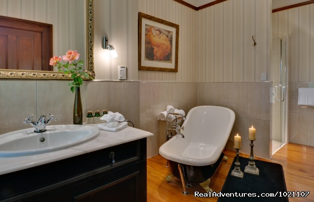 One of the bathroom (Bath and Shower) - A Luxury Getaway in the Wine Region Marlborough