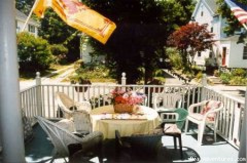 Dine or read on the porch - Chestnut Inn