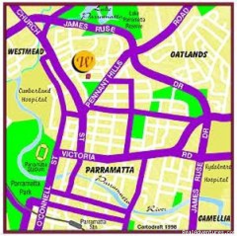 location Map - Parramatta Serviced & Furnished Apartments, Sydney