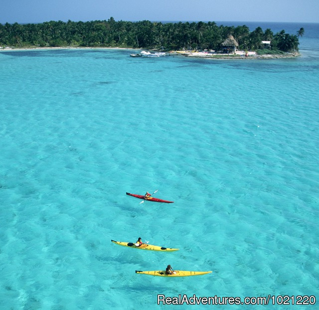 Kayaking at Glover's Reef - Belize Adventure Week, 15 sports in 8 days