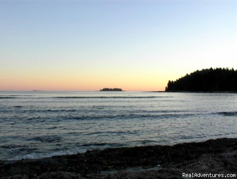 View of crows Island at dusk (#1 of 1) - Go off road to Mussel Beach Wilderness Campground