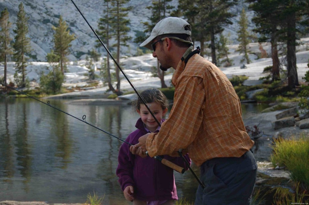 First Fishing Lesson ( photo: Julia Elman) | Image #5/19 | Southern Yosemite Mountain Guides