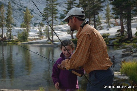 First Fishing Lesson ( photo: Julia Elman) - Southern Yosemite Mountain Guides