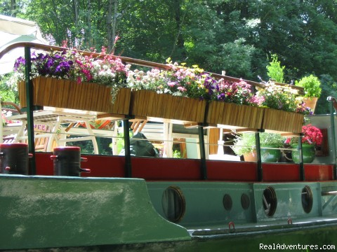Summer Flowers on deck  - Barge Vacations