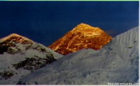 Mt. Everest at sunset - A Getaway! Himalayan Eco-Trekking