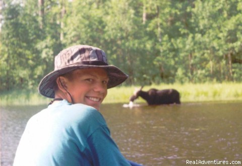 Moose Sighting - Wilderness canoe trips with Voyageur North Ely MN