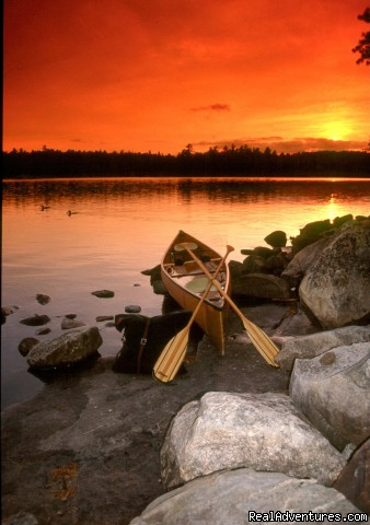 Sunset on Fourtown - Wilderness canoe trips with Voyageur North Ely MN