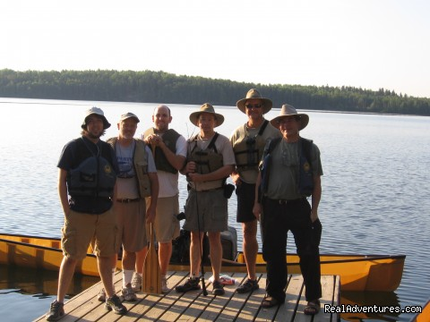 As they start their trip - Wilderness canoe trips with Voyageur North Ely MN