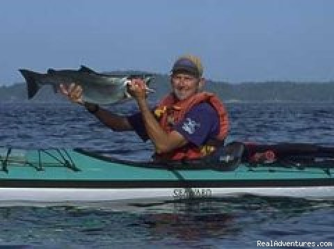 Wild Heart Adventures: Fresh salmon and a HAPPY PADDLER!