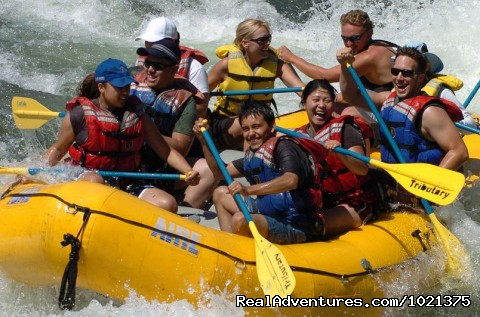 California rafting from Mild to Wild - many rivers