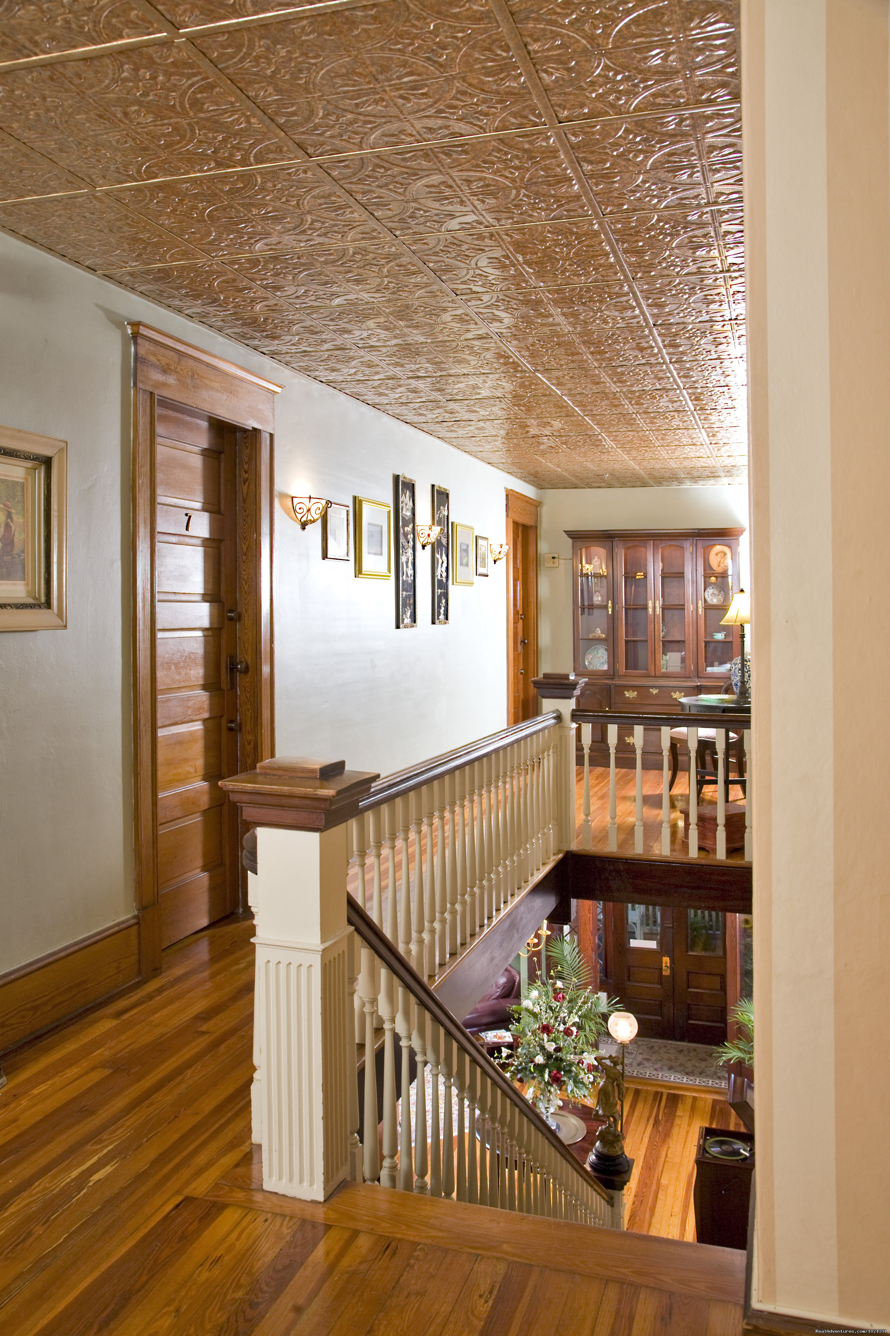 Tin Ceiling on 2nd Floor | Image #12/16 | Hoyt House Bed and Breakfast