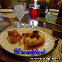 Cranberry Stuffed French Toast - Yum - Quality Mountain City Lodging at Prospect Hill B&B