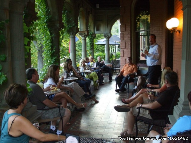 First Friday Wine Tasting on the Veranda - The Harry Packer Mansion Inn